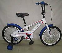 Детский двухколесный велосипед Azimut G 960(18 дюймов) бело-синий