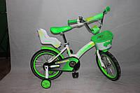 Велосипед двухколёсный 12 дюймов Azimut KIDS BIKE CROSSER-3 салатовый