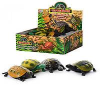 Антистрес, Тварини 7219 черепахи, 4 види, 12 шт. в диспл., 21,5-19,5-8 см