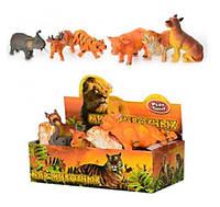 Антистрес, Тварини JT 7215 дикі, 6 видів, 12 шт. в диспл., 28-15-9 см