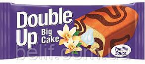 Бісквіт DOUBLE UP ваніль з какао та шоколадним соусом 55гр. х24х6