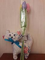 Набор букет тюльпанов + котик Валентин.