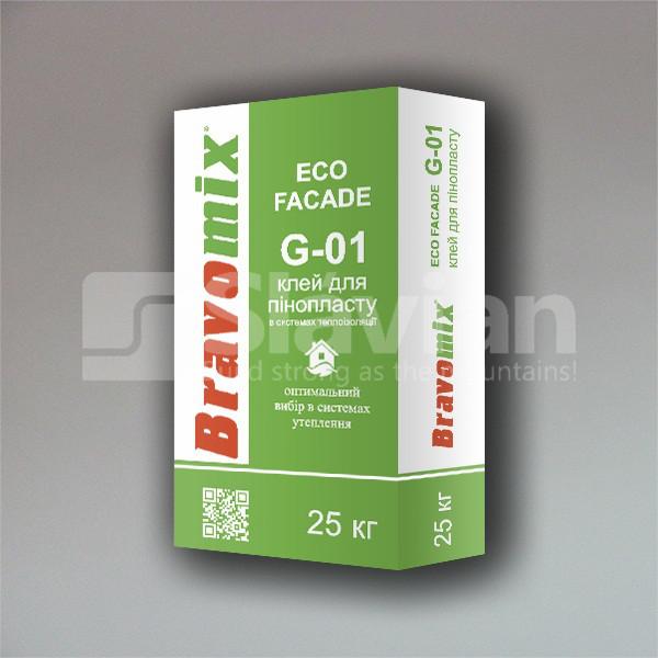 Клей для пенопласта Bravomix «ECO FACADE G-01», 25 кг