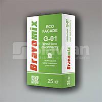 Клей для пенопласта Bravomix «ECO FACADE G-01», 25 кг, фото 1
