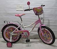 Детский двухколёсный Велосипед Флора 18 T-21823 white + pink***