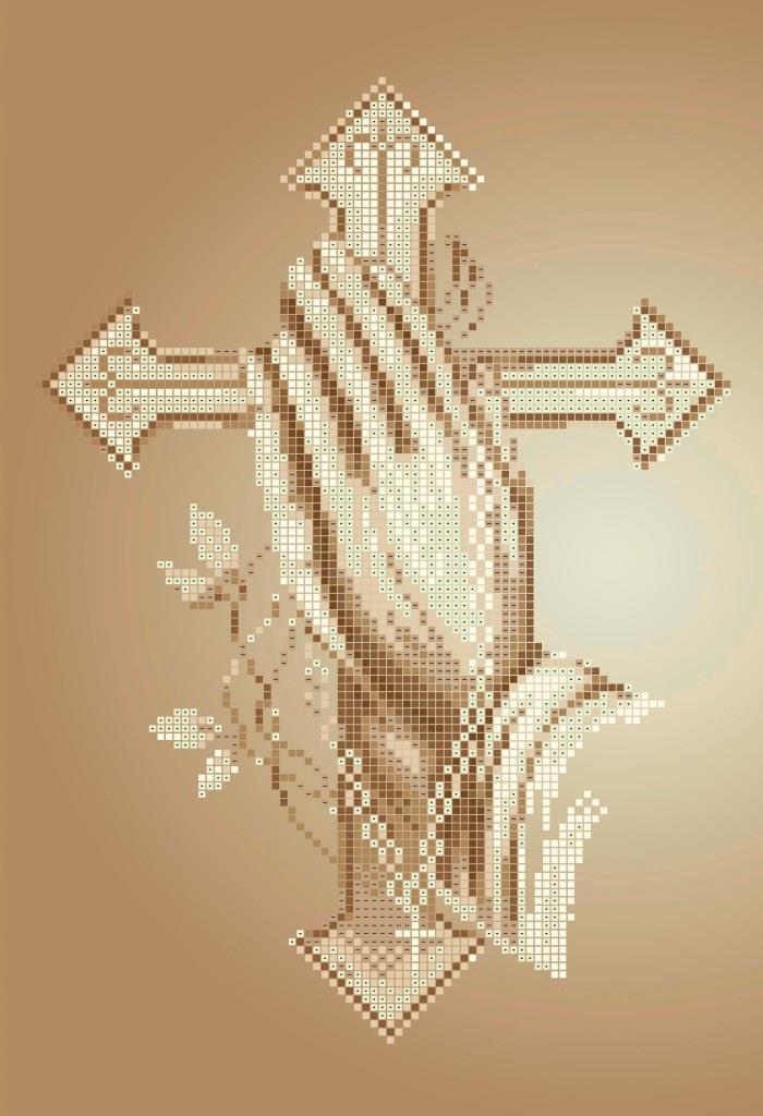Схема для вишивки та вишивання бісером Бисерок «Молитва» (A4) 20x25 (ЧВ-3139 (10))