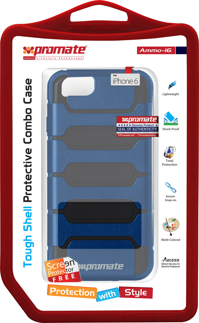 Чехол для iPhone Promate Ammo-i6 Blue