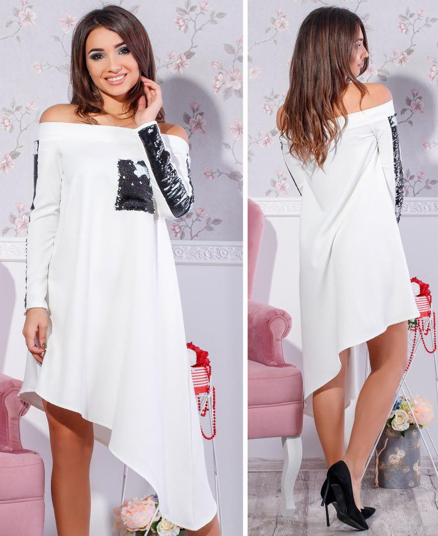 10030991354 Платье асимметрия № 455 (мар.) - магазин одежды