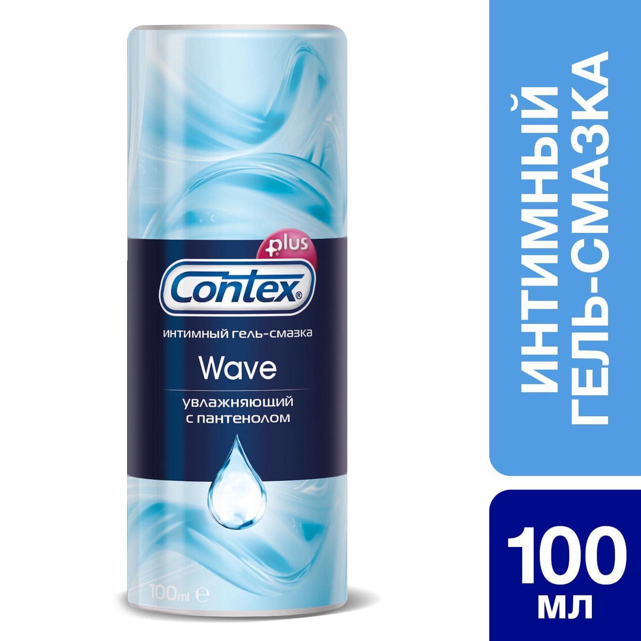 Интимный гель-смазка Contex® Wave увлажняющий с пантенолом 100 мл