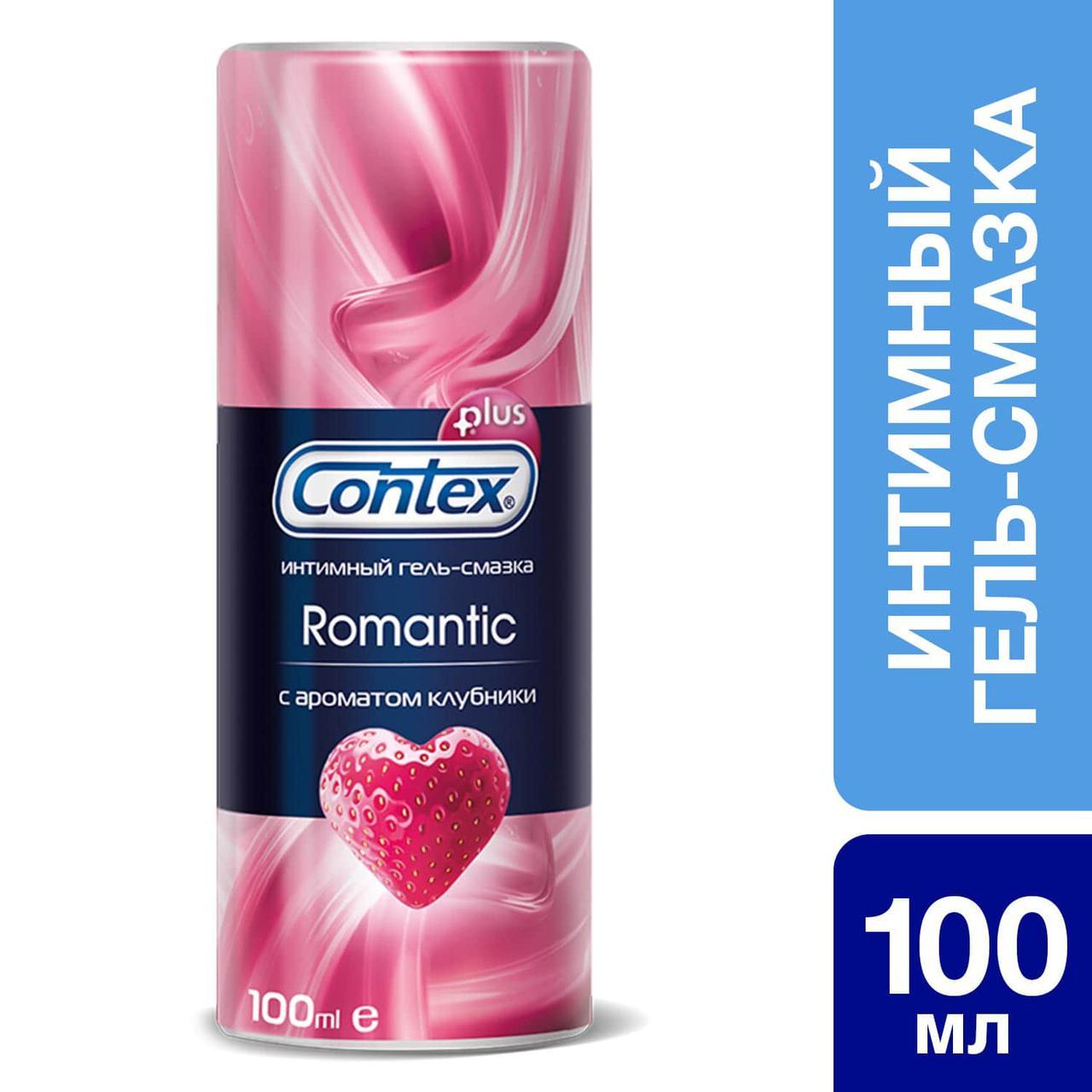 Интимный гель-смазка Contex® Romantic с ароматом клубники 100 мл