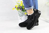 Женские кроссовки  Nike Air Max 90  (черные), ТОП-реплика, фото 1