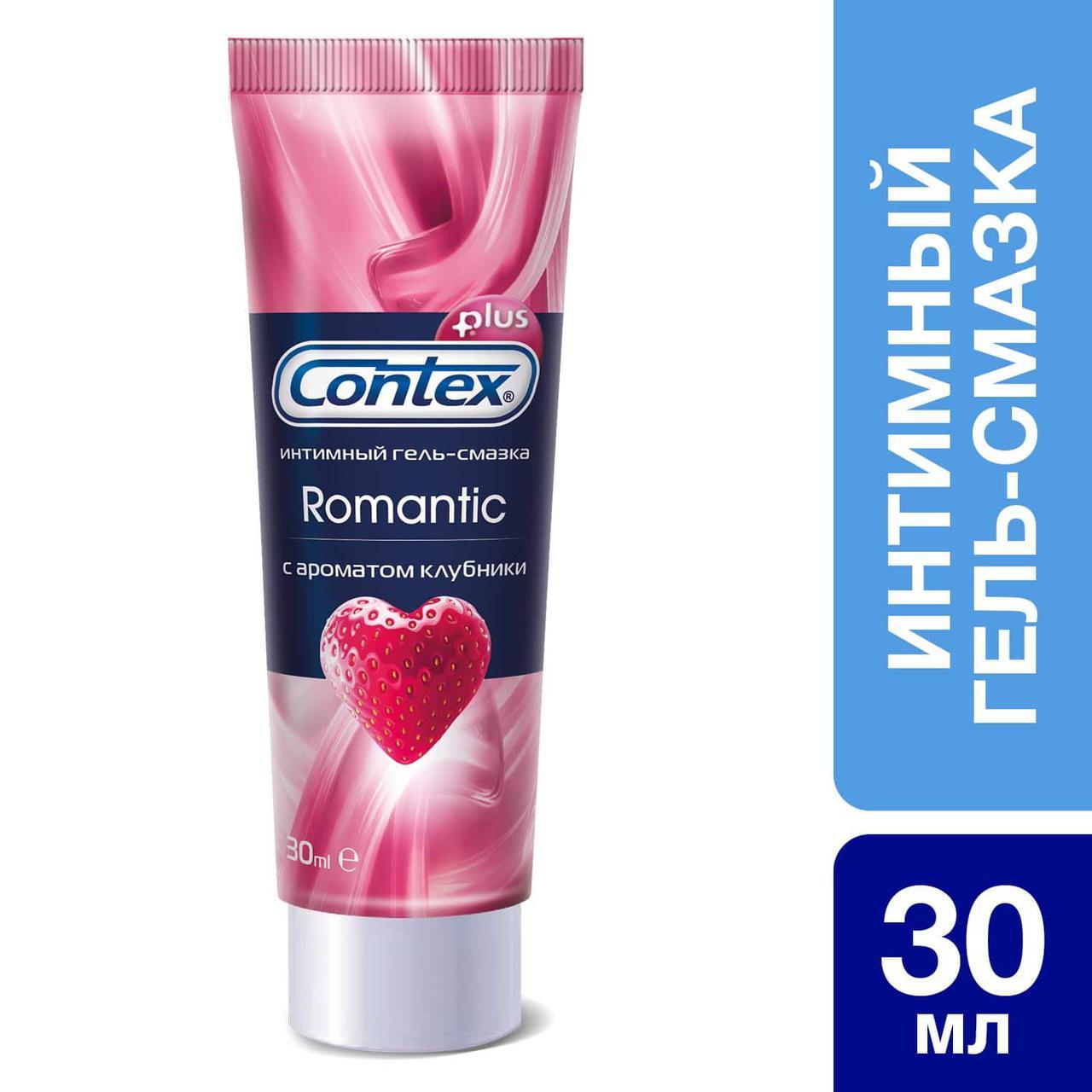 Интимный гель-смазка Contex® Romantic с ароматом клубники 30 мл