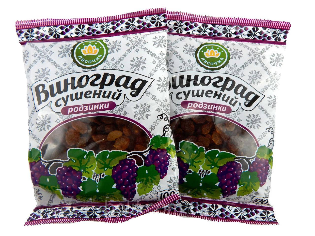 Ласочка Виноград сушений (родзинки) 100 гр.