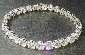 Браслет ,белое золото 14 К (585 проба) Crystal Carbon . Вес 18.72 гр