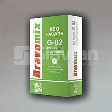 Клей для армування і приклеювання теплоізоляційних плит Bravomix «ECO FACADE G-02», 25кг