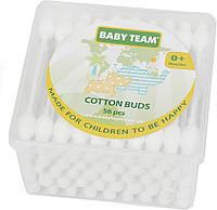 Baby Team. Ватные палочки с ограничителем 56 шт., 0мес+ (0100)