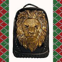 Мужской  рюкзак 3D со львом , casual