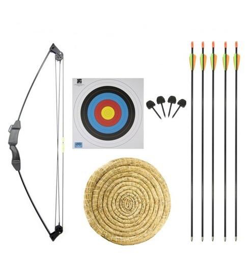 Лук классический JX Compound + щит + 2 стрелы + бумажный диск + штыри 4 шт