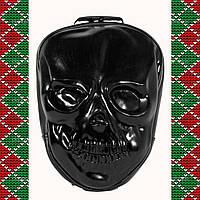 Мужской черный кожаный рюкзак 3D с черепом, 3 d со скелетом