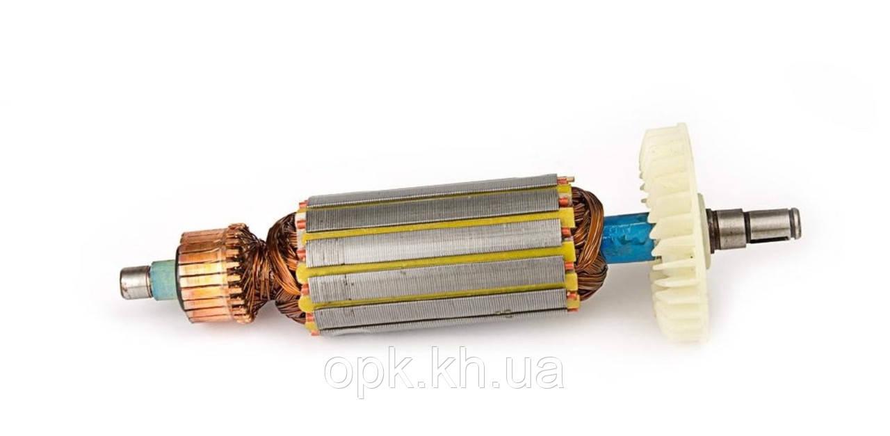 Якорь тст-н болгарки Протон МШУ-125/850, DWT WS-125SL (35*165 мм, хвостовик - шпонка+стопорное кольцо 8 мм)