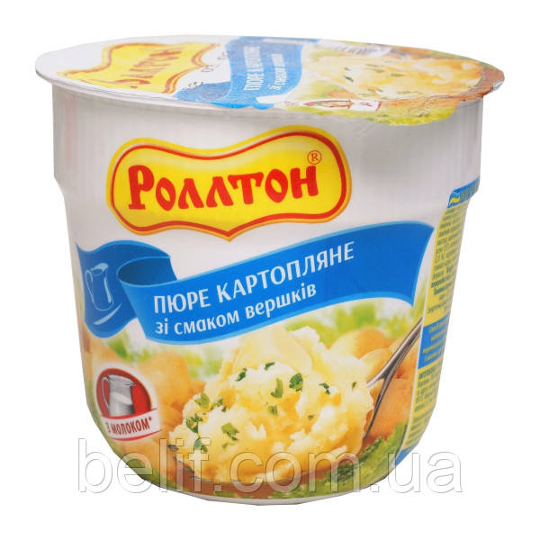 Ролтон Пюре картопляне зі смаком вершк стакан 37 г
