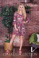 Платье шифоновое ПЛ3-594 (р.44-50), фото 1