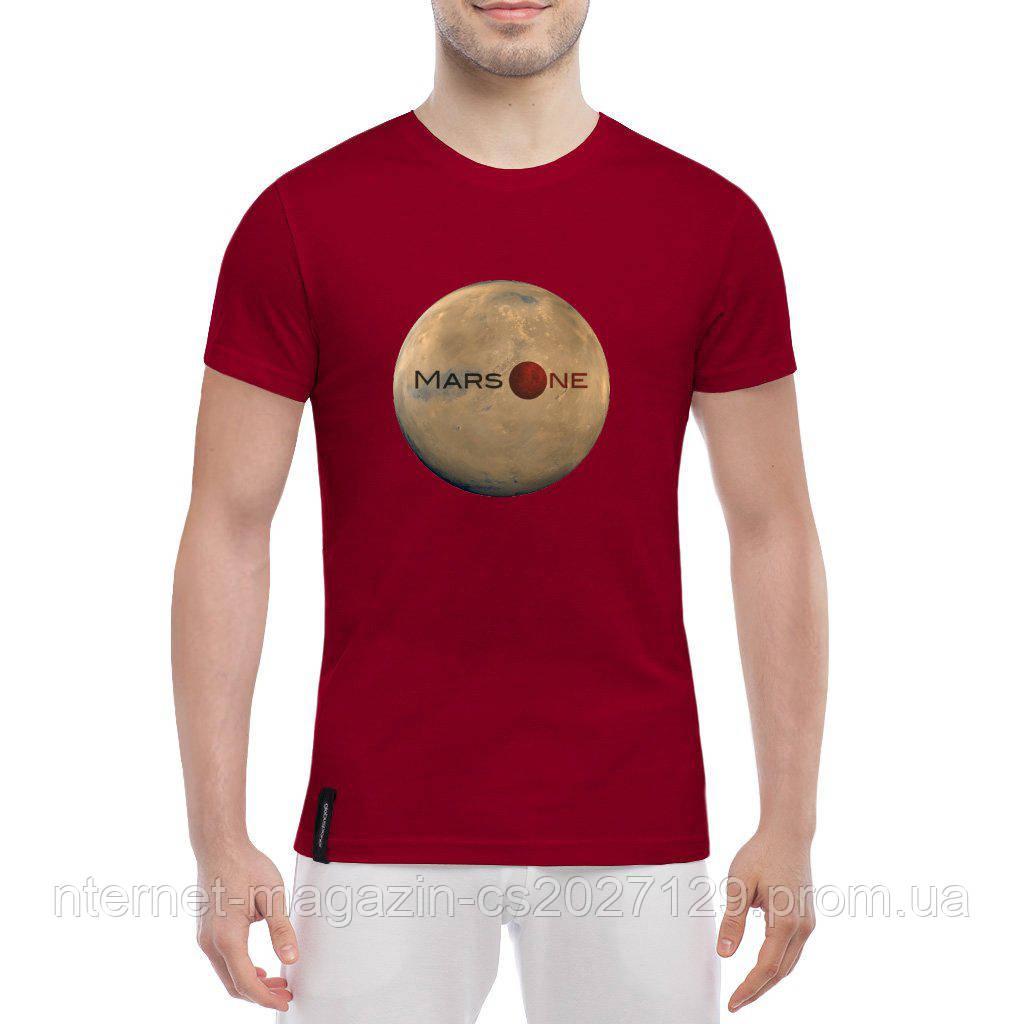 Футболка с печатью принта Mars One