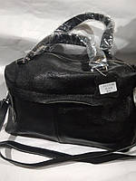 Женская кожаная сумка черная  коричневая красная через плечо вместительная