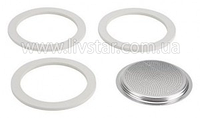 Прокладка Для Кофеварки, Силиконовые Диски И Фильтр 6 Чашки