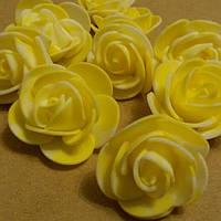 Розочки латексные жёлтые мраморные