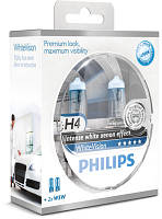 Комплект ламп Philips White Vision H4 2шт.