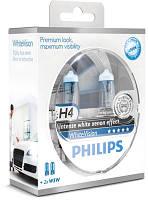 Комплект ламп Philips White Vision H4 2шт.