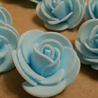 Розочки латексные голубые