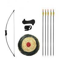 Лук классический JX Junior + щит + 2 стрелы + защита предплечья + напалечник