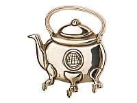"Ключница, вешалка настенная ""Чайник"" из латуни 333-002"