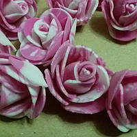 Розочки латексные розовые мраморные