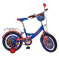 Детский велосипед PROF1 мульт 16д MH162 Герои, сине-красный