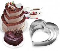 Формы Для Выпечки Торта Набор Из 3 Штук. Форма Сердце