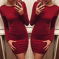 Платье женское с портупеей. Бордо, фото 1