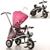 Трехколесный велосипед (трансформер) беговел M 3212A-4 розовый