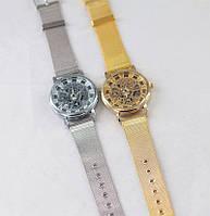 Часы наручные Pinbo Skeleton Gold