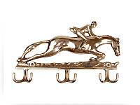 "Ключница, вешалка настенная ""Всадник на лошади"" из латуни 333-054"