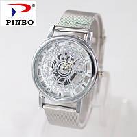Часы наручные Pinbo Skeleton Platinum