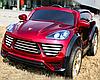 Лицензионный электромобиль Porsche Cayenne M 2735 EBLRS-3 колеса EVA+кож.сиденье