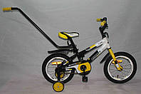 """Детский двухколесный велосипед Azimut Stitch А 14"""" желтый"""