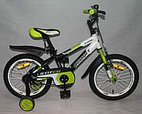 """Велосипед двухколёсный Azimut Stitch А 16"""" дюймов салатовый, фото 1"""