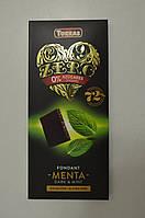 Шоколад черный Torras ZERO мята 72% (без сахара и глютена), 100 г Испания