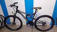 Спортивный велосипед 26 дюймов Azimut Blaster  оборудование SHIMANO черно- зеленый