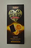 Шоколад черный Torras ZERO апельсин (без сахара и глютена), 125 г Испания