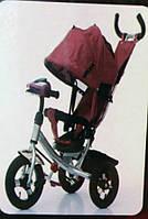 Велосипед трехколесный Azimut Air  Lambortrike L2B ( Lamborghini)бордовый на надувных колесах с фа